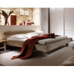 HASENA San Remo Akazie Balkenbett trüffel Füße 20 cm 180x200