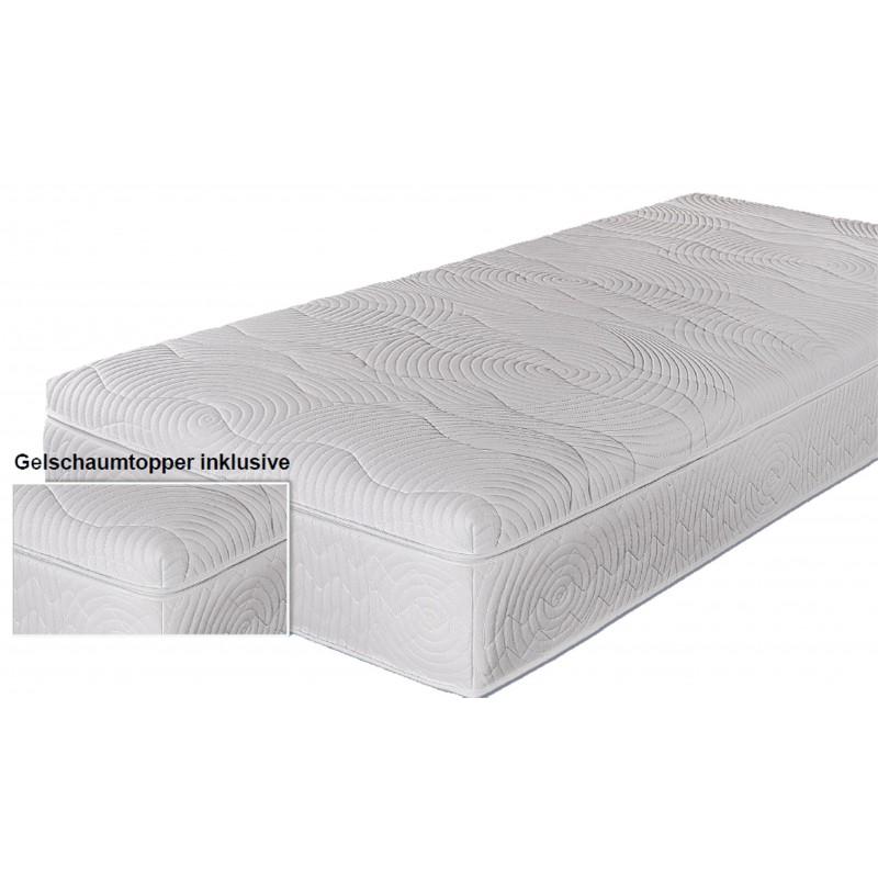 boxspringmatratze mit gel topper 140x200 cm h3 franz sisches bett. Black Bedroom Furniture Sets. Home Design Ideas