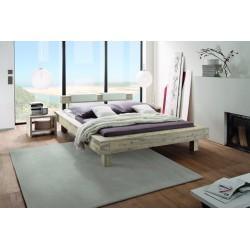 HASENA Bett  Caserta Chic, Akazie natur, gebürstet, lackiert 200x220 cm, Füße 20 cm