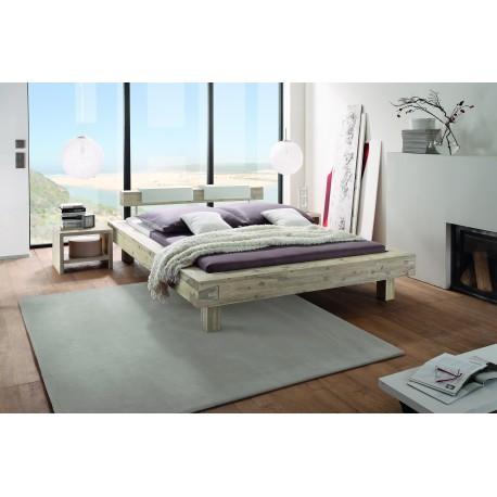 HASENA Bett Pescara Akazie gebürstet lackiert 20cm Füße 140x200
