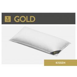 Spessarttraum Gold 3-Kammer-Kopfkissen 40x80 Gänsedaunen und -federn